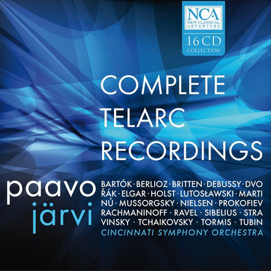 PAAVO JARVI & CINCINNATI SYMPHONY ORCHESTRA: THE COMPLETE TELARC RECORDINGS (16 CDS)