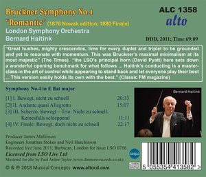 "BRUCKNER: SYM NO.4 ""ROMANTIC"" - HAITINK, LONDON SYMPHONY ORCHESTRA"