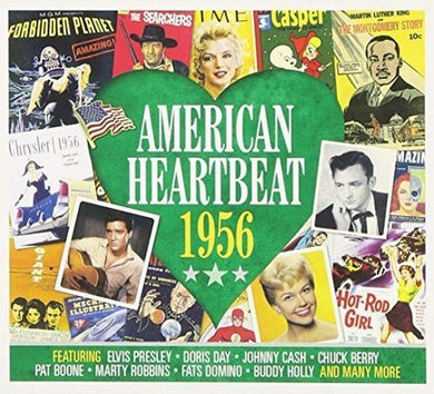 AMERICAN HEARTBEAT 1956: Doris Day, Johnny Cash, Chuck Berry, Pat Boone, Marty Robbins and More (2 CDs)