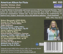 Load image into Gallery viewer, AMERICAN ALBUM FOR FLUTE - JENNIFER STINTON & MALCOLM MARTINEAU