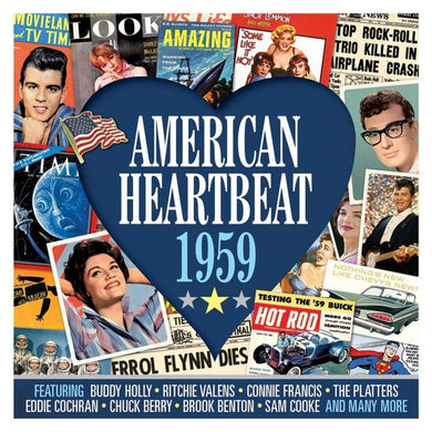 AMERICAN HEARTBEAT 1959: Buddy Holly, Connie Francis, Platters, Crests, Impalas, Fats Domino and More (2 CDs)