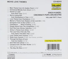 Load image into Gallery viewer, ERICH KUNZEL & CINCINNATI POPS ORCHESTRA: Movie Love Themes