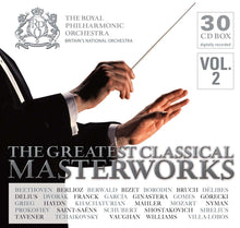 Load image into Gallery viewer, THE GREATEST CLASSICAL MASTERWORKS - THE ROYAL PHILHARMONIC ORCHESTRA (30 CDS)