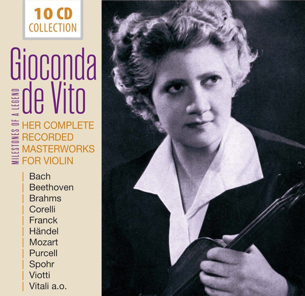 GIOCONDA DE VITO: Her Complete Recorded Masterworks For Violin (10 CDs)