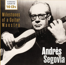 Load image into Gallery viewer, ANDRES SEGOVIA - MILESTONES OF A GUITAR MAESTRO (10 CDS)