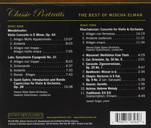 BEST OF MISCHA ELMAN (2 CDS)