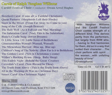 Load image into Gallery viewer, CHRISTMAS CAROLS OF VAUGHAN WILLIAMS - CARDIFF FESTIVAL CHOIR