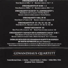 Load image into Gallery viewer, BEETHOVEN: COMPLETE STRING QUARTETS - GEWANDHAUS QUARTETT (10 CDS)