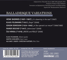 Load image into Gallery viewer, BALLADESQUE VARIATIONS (WORKS FOR GUITAR AND ORGAN) - BADINGS/FELDMANN/DENISSOW/BISCHOF/KRIGUL
