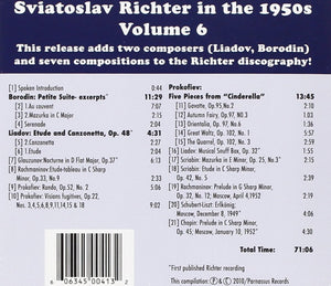 RICHTER IN THE 1950'S - VOLUME 6