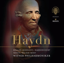 Load image into Gallery viewer, HAYDN: SYMPHONIES - BOULEZ, MEHTA, HARNONCOURT, DOHNANYI, WELSER-MOST, VIENNA PHILHARMONIC (3 CDS)