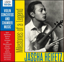 Load image into Gallery viewer, JASCHA HEIFETZ: MILESTONES OF A VIOLIN LEGEND - VIOLIN CONCERTOS AND CHAMBER MUSIC (10 CDS)