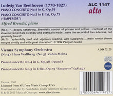 Load image into Gallery viewer, BEETHOVEN: PIANO CONCERTOS NO. 4 & NO. 5 - BRENDEL, VIENNA SYMPHONY