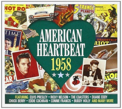 AMERICAN HEARTBEAT 1958: Ricky Nelson, Coasters, Duane Eddy. Chuck Berry, Eddie Cochran and More (2 CDs)