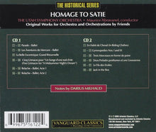 Load image into Gallery viewer, HOMAGE TO SATIE: THE ORCHESTRAL WORKS - ABRAVANEL, UTAH SYMPHONY (2 CDS)