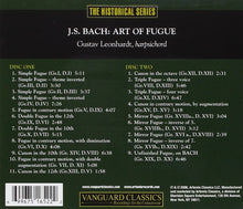 Load image into Gallery viewer, BACH, J.S.: ART OF FUGUE - GUSTAV LEONHARDT (2 CDS)