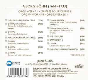 BOHM: ORGAN WORKS, VOLUME 2 - SLUYS