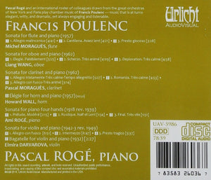 POULENC: CHAMBER MUSIC - PASCAL ROGE ET SES AMIS