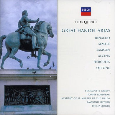 HANDEL: Great Arias - Greevy, Robinson, Academy of St. Martin in the Fields, Leppard