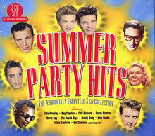 Load image into Gallery viewer, SUMMER PARTY HITS - THE ABSOLUTELY ESSENTIAL 3 CD COLLECTION: Ray Charles, Cliff Richard, Doris Day, Beach Boys, Buddy Holly, Del Shannon