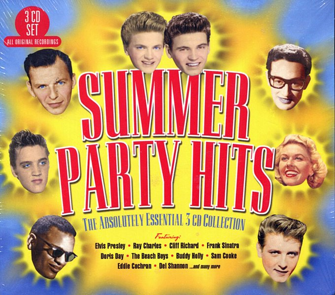 SUMMER PARTY HITS - THE ABSOLUTELY ESSENTIAL 3 CD COLLECTION: Ray Charles, Cliff Richard, Doris Day, Beach Boys, Buddy Holly, Del Shannon
