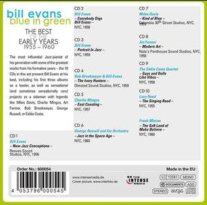 BILL EVANS: Blue In Green - The Best Of The Early Years 1955-1960 (10 CDs)