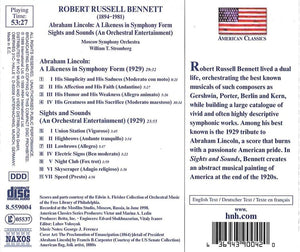 BENNETT: ABRAHAM LINCOLN; SIGHTS AND SOUNDS - MOSCOW SYMPHONY