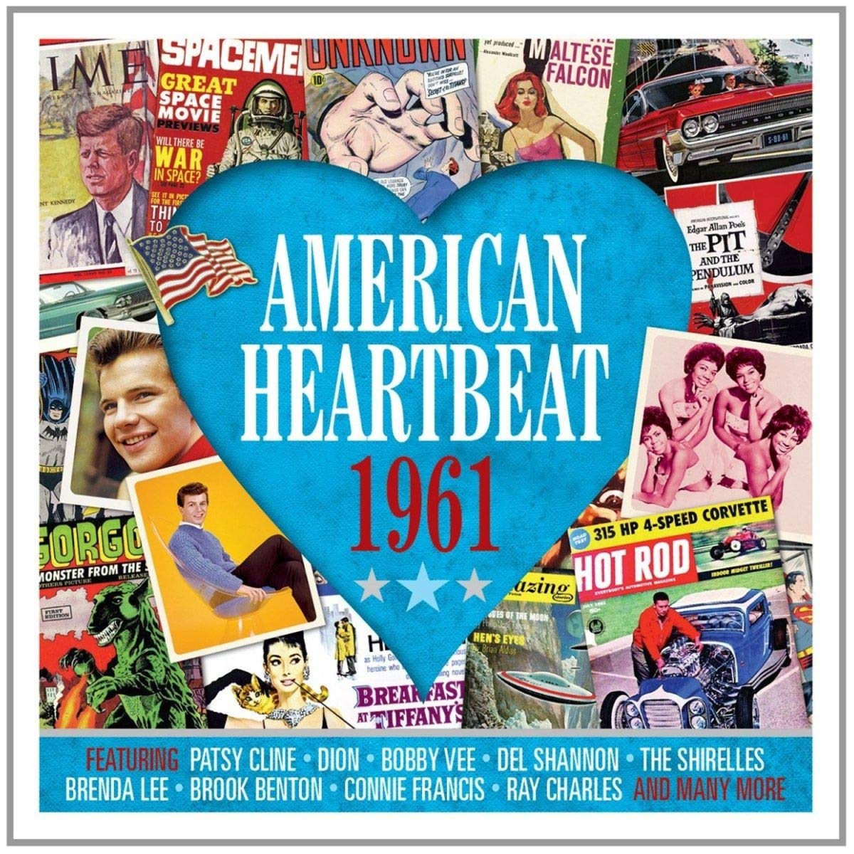 AMERICAN HEARTBEAT 1961: Dion, Ray Charles, Jimmy Dean, Roy Orbison, Del Shannon, Jive Five and More (2 CDs)