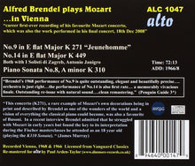Load image into Gallery viewer, ALFRED BRENDEL PLAYS MOZART: PIANO CONCERTOS 9 & 14, PIANO SONATA K. 310