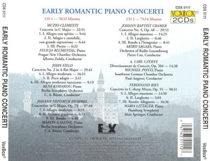 EARLY ROMANTIC PIANO CONCERTI (2 CDS)