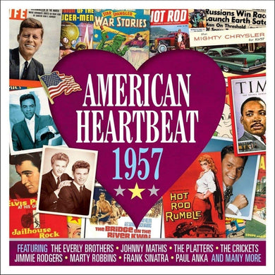 AMERICAN HEARTBEAT 1957: Everly Brothers, Johnny Mathis, Platters, Crickets, Jimmie Rodgers and More (2 CDs)