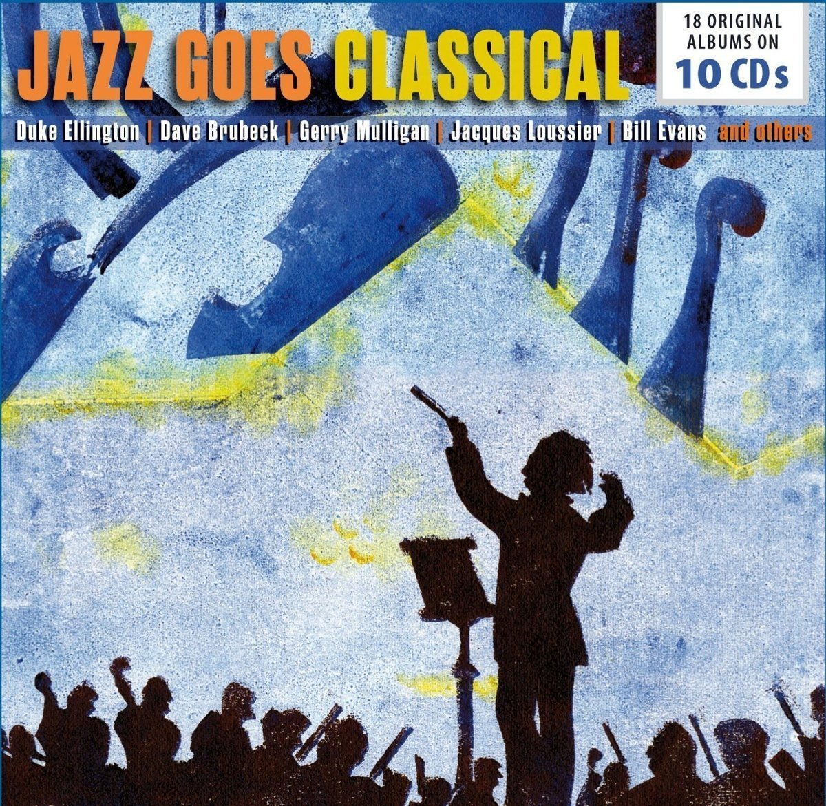 JAZZ GOES CLASSICAL 18 ORIGINAL ALBUMS (10 CDS) - ELLINGTON, BRUBECK, MULLIGAN, LOUSSIER, EVANS