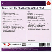 Load image into Gallery viewer, BYRON JANIS: THE RCA RECORDINGS 1950-1959 (5 CDS)