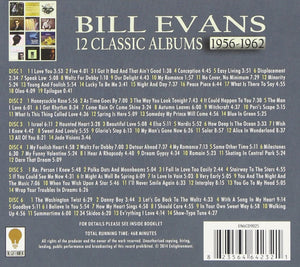 BILL EVANS: 12 CLASSIC ALBUMS 1956-1962 (6 CDS)