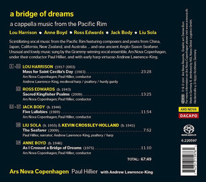 A BRIDGE OF DREAMS - ARS NOVA COPENHAGEN; LAWRENCE-KING; HILLIER (HYBRID SACD)