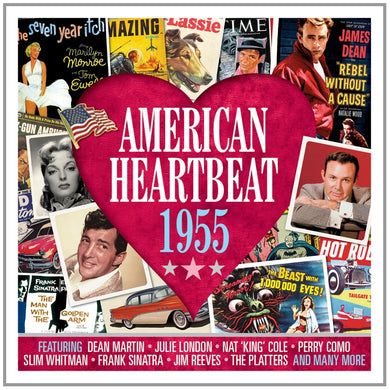 AMERICAN HEARTBEAT 1955: Dean Martin, Julie London, Nat King Cole, Perry Como, Slim Whitman (2 CDs)