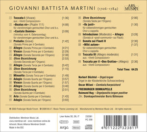 MARTINI: SACRED VOCAL WORKS, ORGAN AND HARPSICHORD SONATAS