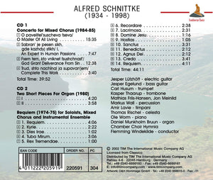 SCHNITTKE: Requiem; Concerto For Mixed Chorus - Chamber Choir Hymnia (2 CDs)