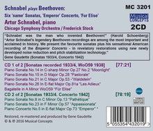 "Load image into Gallery viewer, SCHNABEL PLAYS BEETHOVEN: 6 NAME SONATAS, FUR ELISE, ""EMPEROR"" CONCERTO (2 CDS)"