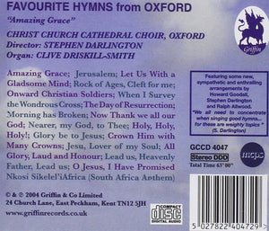 "FAVOURITE HYMNS FROM OXFORD ""AMAZING GRACE"" - CHRIST CHURCH CATHEDRAL CHOIR, DARLINGTON"