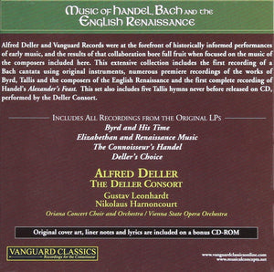 ALFRED DELLER: COMPLETE VANGUARD CLASSICS RECORDINGS, VOLUME 4 - MUSIC OF HANDEL, BACH & THE ENGLISH RENAISSANCE (6 CDS)