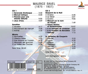 RAVEL : Complete Works For Solo Piano - John Damgaard (2 CDs)
