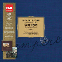 Load image into Gallery viewer, MENDELSSOHN: SYMPHONIES 3 & 4; SCHUMANN: SYMPHONY NO. 4 - SIGNATURE COLLECTION; KLEMPERER (2 HYBRID SACDs)