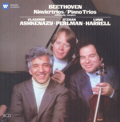 BEETHOVEN: COMPLETE PIANO TRIOS - PERLMAN, ASHKENAZY, HARRELL (4 CDS)