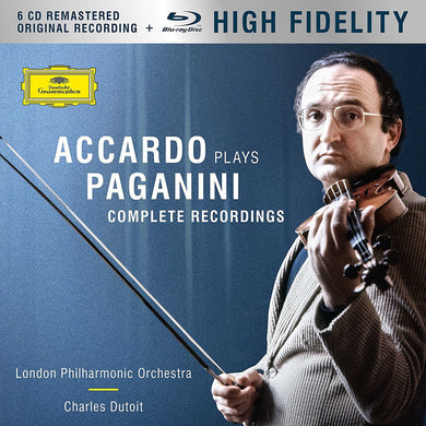ACCARDO PLAYS PAGANINI: THE COMPLETE RECORDINGS (6 CDS + BLU-RAY AUDIO)
