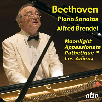 BEETHOVEN: PIANO SONATAS (MOONLIGHT, APPASSIONATO, PATHETIQUE, LES ADIEUX) - BRENDEL
