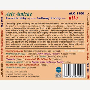 ARIE ANTICHE - EMMA KIRKBY, ANTHONY ROOLEY