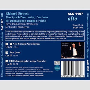 STRAUSS, R: TONE POEMS (ALSO SPRACH ZARATHUSTRA, DON JUAN, TILL EULENSPIEGEL) - MACKERRAS, ROYAL PHILHARMONIC