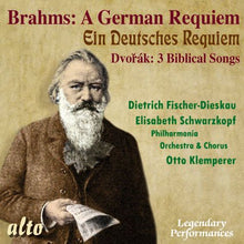 Load image into Gallery viewer, BRAHMS: GERMAN REQUIEM; DVORAK: 3 BIBLICAL SONGS - FISCHER-DIESKAU; SCHWARTZKOPF