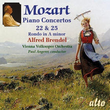 Load image into Gallery viewer, MOZART: PIANO CONCERTOS 22 & 25; RONDO NO. 3 - ALFRED BRENDEL, VIENNA VOLKSOPER ORCHESTRA, PAUL ANGERER
